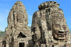 Bayons Angor-Wat-Cambodia Imagem de Stock