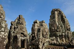 Bayons Angor-Wat-Cambodia Stock Photos