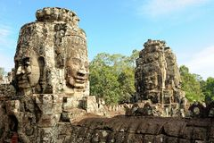 Bayons Angor-Wat-Cambodia Royalty Free Stock Photos