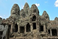 Bayons Angor-Wat-Cambodia Stock Photo