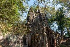 BayonTemple (Angkor Thom) Siem Reap Cambodja December 2015 Arkivbild
