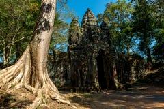 BayonTemple (Angkor Thom) Siem Reap Cambodja December 2015 Fotografering för Bildbyråer