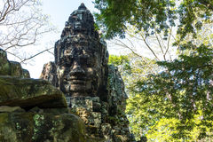 BayonTemple (Angkor Thom) Siem Reap Cambodja December 2015 Royaltyfria Bilder