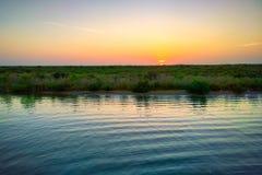 Bayou Lafourche, Louisiana stockbild