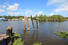 Bayou Lafourche, Louisiana lizenzfreies stockbild