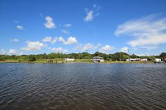 Bayou Lafourche, Louisiana stockfoto