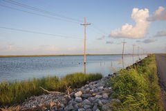 Bayou Lafourche, Louisiane Royalty-vrije Stock Foto's