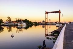 Bayou Lafourche, Louisiane stock foto