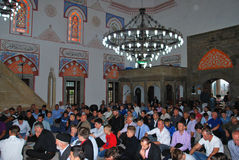 BAYRAM/EID: The crowd of Muslims in the mosque Royalty Free Stock Photo