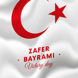 Bayrami di Zafer Victory Day Turkey 30 agosto bandiera Illustrazione di vettore Fotografie Stock