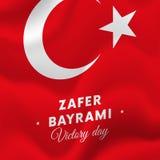 Bayrami di Zafer Victory Day Turkey 30 agosto bandiera Illustrazione di vettore Fotografia Stock Libera da Diritti