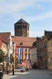 Bayreuth (Allemagne - la Bavière), tour d'église orthogonale Photos stock