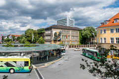 Bayreuth central bus station 2016 Royalty Free Stock Photo