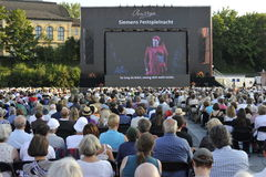 Bayreuth-Festival, allgemeine Betrachtung von Wagner lizenzfreies stockfoto