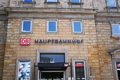 Bayreuth Hauptbahnhof, Niemcy zdjęcia royalty free