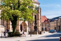 Bayreuth miasta kościół obrazy royalty free