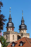 Bayreuth old town church steeple Royalty Free Stock Photos