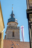Bayreuth old town church steeple Royalty Free Stock Photo