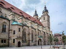 Bayreuth old town church Royalty Free Stock Image