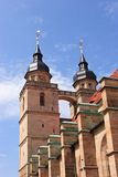 Bayreuth old town church steeple Stock Photography
