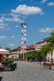 Bayreuth old town maypole - marketplace Royalty Free Stock Image