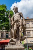 Bayreuth old town - Neptune Fountain Royalty Free Stock Image