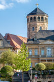 Bayreuth old town - with the octagonal tower of the Castle Church (Schloßkirche) Royalty Free Stock Image