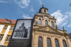 Bayreuth old town - Spitalkirche Stock Photos