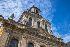Bayreuth old town - Spitalkirche royalty free stock photos