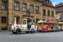 Bayreuth old town 2016 - Train to the Landesgartenschau Stock Photo