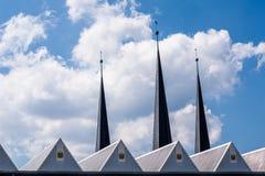 Bayreuth roofscapes i kościelny górują zdjęcia stock