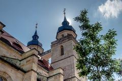 Bayreuth stary grodzki kościelny steeple fotografia royalty free