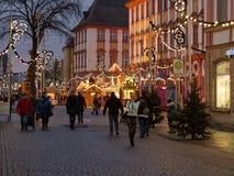 Bayreuth, SternPlatz tijdens Kerstmis Stock Fotografie