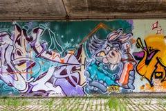 Bayreuth-Straßenkunst - Graffiti Lizenzfreies Stockbild
