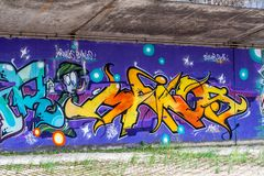 Bayreuth Street art - graffiti Royalty Free Stock Images
