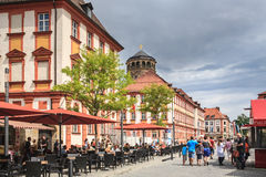 Bayreuth town in Bavaria Royalty Free Stock Photos