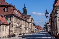 Bayreuth old town - Friedrichstraße royalty free stock image