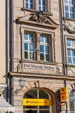 Historical facade in the city of Bayreuth - Post - Telephone - Telegraph Royalty Free Stock Images