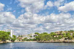 Bays and beaches on the coast of Mallorca island. Spain Royalty Free Stock Photography