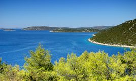 Bays and islands in the sea, landscape, Croatia Dalmatia Royalty Free Stock Photography