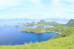 Bays on Padar Island Royalty Free Stock Images