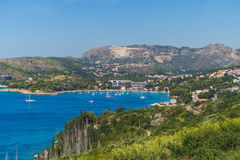 Bays and towns along the Dalmation Coast Stock Images