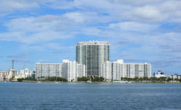 bayside海滩迈阿密 免版税图库摄影