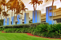 Bayside. Miami florida bayside downtown sign Royalty Free Stock Photo