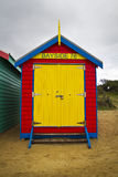 Bayside bathing box Royalty Free Stock Photos
