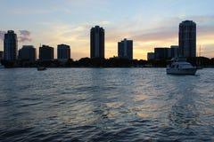 Bayside flotante Foto de archivo libre de regalías