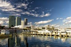 Bayside harbor in Miami Stock Photos