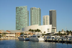 Bayside Marina in Miami Stock Images