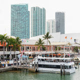The Bayside Marketplace in downtown Miami Royalty Free Stock Image