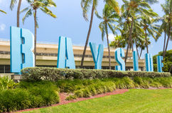 The Bayside Marketplace in Miami. Sign at the Bayside Marketplace in Miami Royalty Free Stock Photo